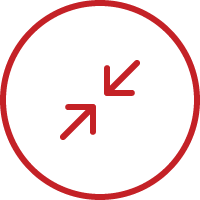 line art icon of two arrows pointing at each other